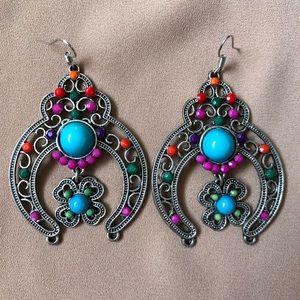 Vibrant ethnic colorful earrings